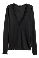 Top a costine - Nero - DONNA | H&M IT 2